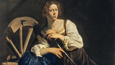 Alexandriai Szent Katalin Michelangelo ábrázolásában. Forrás: Wikipédia