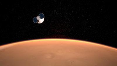 A szonda megközelíti a Marsot (Grafika: NASA)