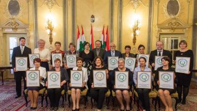 A Minősített Könyvtár elismerés és Könyvtári Minőség Díj átadóján, 2018.11.13-án. Fotó: államtitkárság