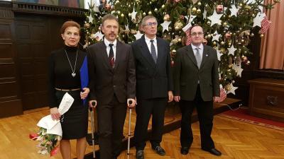 Az öt – saját önkormányzattal rendelkező – békéscsabai nemzetiség közös ünnepére telt meg a polgármesteri hivatal díszterme december 10-én kora este. Fotó: Kovács Dénes