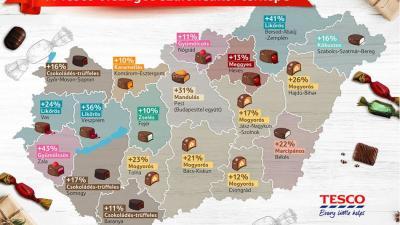 A Tesco elkészítette Magyarország szaloncukortérképét