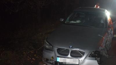 Baleset Békéscsaba külterületén 2018.12.02.-án. Fotó: police.hu