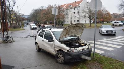 Baleset Békéscsabán 2018.12.04.-én. Fotó: police.hu