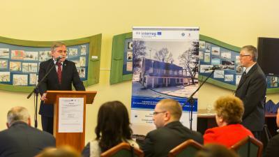 Bak Sándor, a Körös-vidéki Vízügyi Igazgatóság igazgatója is köszöntőt mondott a projektnyitón. Fotó: Körös-vidéki Vízügyi Igazgatóság