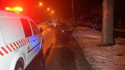 Baleset 2019.01.29.-én. Fotó: police.hu