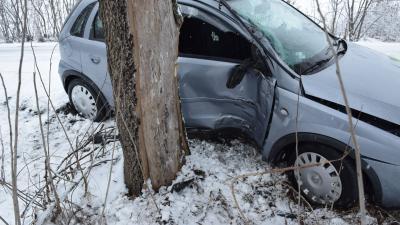Baleset Kétegyházán, 2019.01.22.-én. Fotó: police.hu