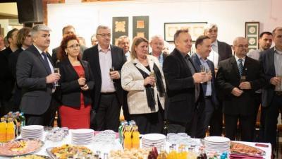 Vállalkozók és közszereplők is részt vettek a békési, újévi fogadáson. Fotó: GA-Pix Fotó