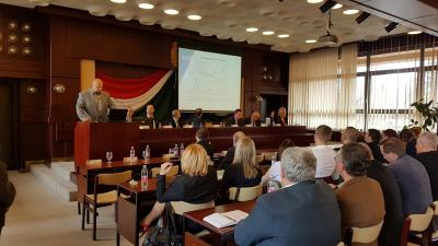 A Békés Megyei Önkormányzat hagyományteremtő céllal egy évindító fórumot hirdetett meg a települések képviselőinek. Fotó: Kovács Dénes