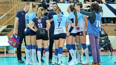 A csabai lányok még a CEV Kupa elődöntőjére koncentrálnak (Fotó: Milyó Pál)