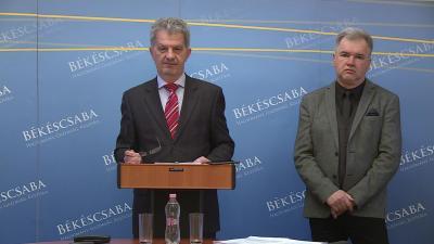 Szarvas Péter polgármester és Nagy Ferenc alpolgármester
