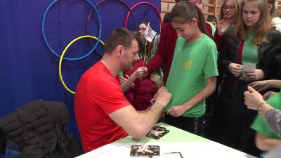 Óriási érdeklődés övezte az olimpiai bajnokot Kép: Kovács Dénes