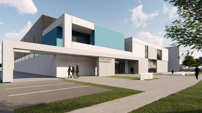 A tervek szerint így néz majd ki a Röplabda Akadémia munkacsarnoka.