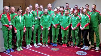 A magyar csapat Glasgow-ban (Fotó: atletika.hu)