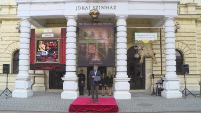Az épület átadójának 140 éves évfordulóját pénteken ünnepelte a Békéscsabai Jókai Színház. Fotó: Kugyelka Attila