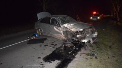 Személyi sérüléssel járó közúti közlekedési baleset történt március 14-én 20 óra körül Szeghalom külterületén (fotó: police.hu)