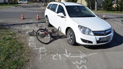 Gyomaendrődön egy kerékpáros nőt ütöttek el (fotó: police.hu)