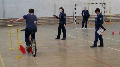 Mezőhegyesen versenyeztek a diákok. Fotó: police.hu