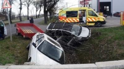 A vésztői baleset 2019.03.26.-án. Fotó: police.hu