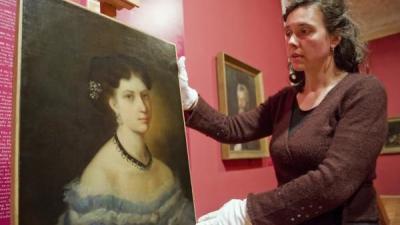 Munkácsy 1867-ben festette meg a békési Tóth Matild arcképét, a múzeum néhány évvel ezelőtt vásárolta meg a festményt (MTI fotó)