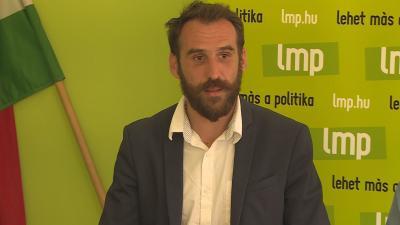 Vágó Gábor, az LMP EP lista vezetője (Fotó: Kugyelka Attila)