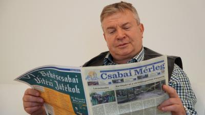 Ando György, a Munkácsy múzeum igazgatója már áttanulmányozta a legfrissebb Csabai Mérleget
