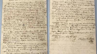 Kossuth Lajos békéscsabaiakhoz írt levele a szerencsi Zemplén Múzeumban található