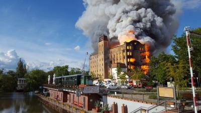 2019. május 21-én égett ki a malom (Fotó: behir.hu)