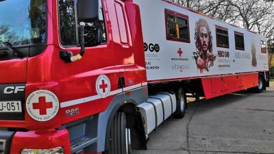 Trónok harca kamion. Fotó: Magyar Vöröskereszt