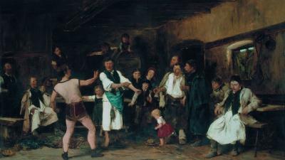 A falu hőse című festményéhez Munkácsy több tanulmányt is készített Békéscsabán