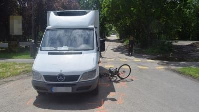 Baleset Szarvason, 2019. 05. 21.-én. Fotó: police.hu