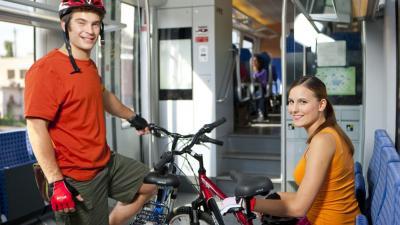 Kerékpárszállítás vonaton (Fotó: MÁV)