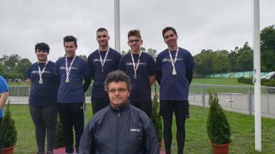 Kun Dominik, Priskin István, Csizmazia Áron, Gyaraki Benjámin, Hrabovszki Balázs. Fotó: Kopp Békéscsabai Atlétikai Club