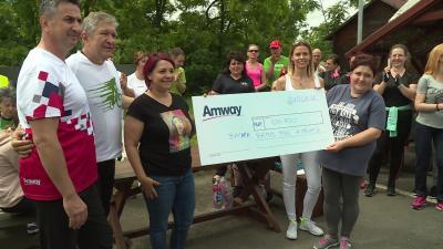674 ezer 700 forintot gyűjtöttek össze jótékonysági kerékpározással a Békés Megyei Központi Kórház Réthy Pál Tagkórháza Gyermekosztályának. Fotó: Bucsai Ákos