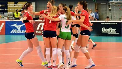 Penteken rajtol a részben hazai rendezésű női röplabda Európa Bajnokság. Fotó: Kuti István