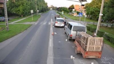 Baleset Gyomaendrődön. Fotó: police.hu
