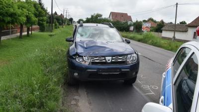 Baleset Békésszentandráson 2019.06.25.-én. Fotó: police.hu