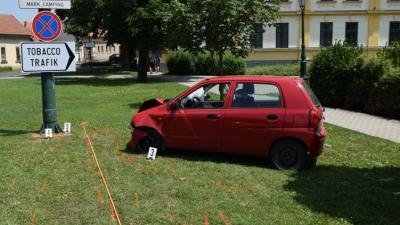 Baleset Békéscsabán 2019.06.27.-én. Fotó: police.hu