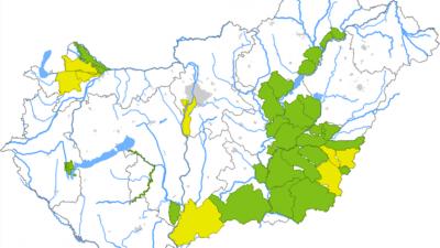 Belvízvédelmi készültségek az országban. Fotó: Országos Vízügyi Főigazgatóság