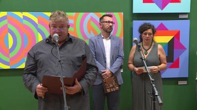 Megnyitották a 15. Békéscsabai Nemzetközi Művésztelep zárókiállítását Fotó: Tóth Áron