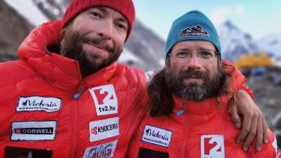Suhajda Szilárd és Klein Dávid az expedíción. Fotó: Facebook