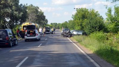 Baleset Békés mellett 2019. 07.15.-én. Fotó: police.hu