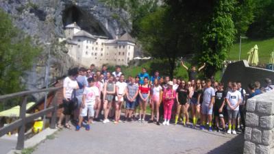Jankays diákok Szlovéniában jártak, tanulmányi kiránduláson.