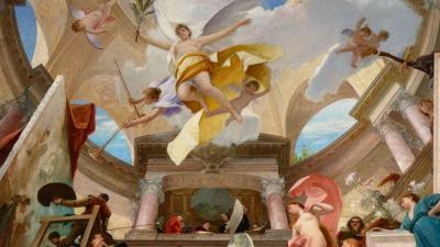 Munkácsy a bécsiek felkérésre festette A reneszánsz apoteózisa című alkotását
