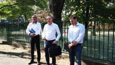 A 6. számú választókerületben megvalósult fejlesztéseket mutatta be Fülöp Csaba, Miklós Attila és Körömi János. Fotó: Papp Ádám