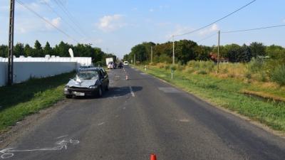 A nagyszénási baleset (fotó: police.hu)