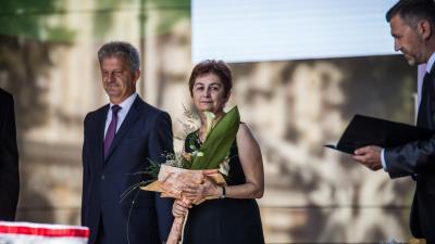 Szarvas Péter polgármester is köszöntötte Rakonczás Szilviát