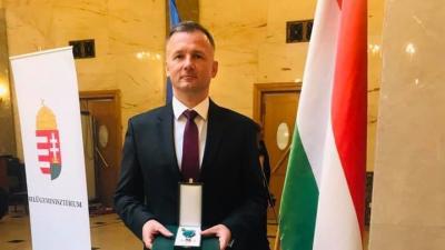 Magyar Érdemrend Lovagkeresztje kitüntetésben részesült Görgényi Ernő. Fotó: Görgényi Ernő facebook oldala