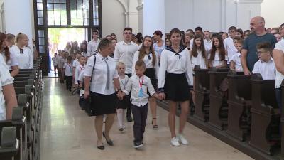 Elkezdődött az evangélikus iskolában is a tanév Fotó: Máthé Csongor