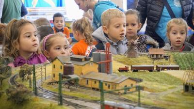 Nemzetközi Vasútmodell Kiállítás és Mozdonyparádé 2019.09.27.-én. Fotó: behir.hu/V.D.