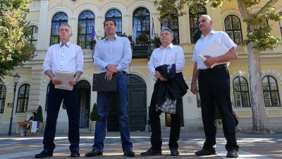 dr. Kónya Tamás, Miklós Attila, Kaposi László, Majernyik László (Fotó: Sipos Gábor)